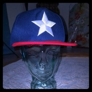 Blue and Red Baseball Cap